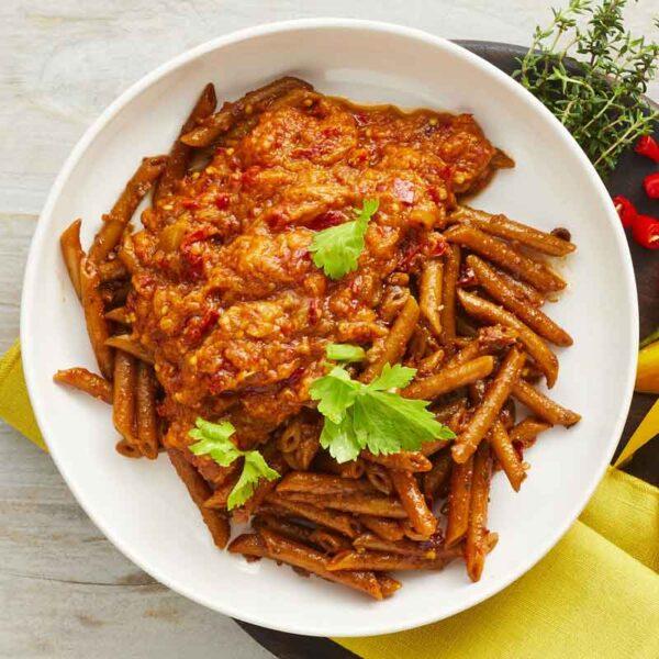 arrabiata med pasta