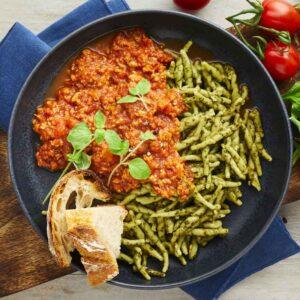 trofiette pasta med pesto nem mad fra bonzo måltider
