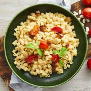 ditalino pasta med bønner
