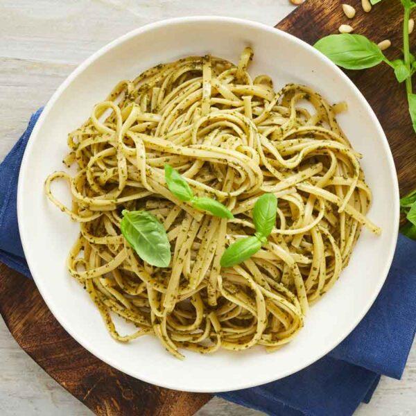 linguine pasta med pesto fra bonzo