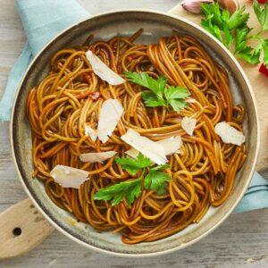 spaghetti med middelhavskrydderier