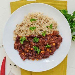 chili con carne med basmatiris nem mad fra bonzo