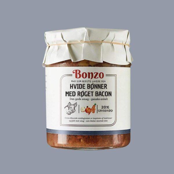 hvide bønner med røget bacon baked beans fra bonzo