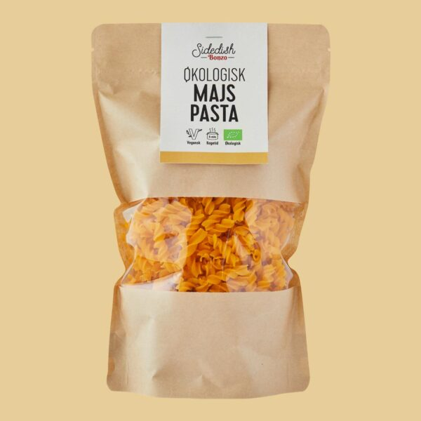 økologisk majspasta fra bonzo vegansk