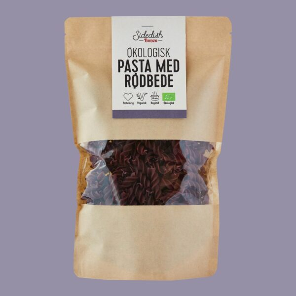 økologisk pasta med rødbede fra bonzo