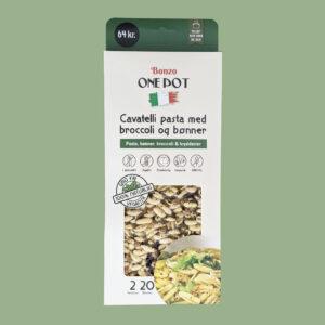 cavatelli pasta med broccoli og bønner
