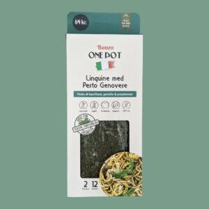 linguine pasta med pesto genovese færdigretter fra bonzo
