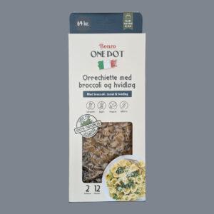 orrechiette pasta med broccoli og hvidløg færdigretter fra bonzo