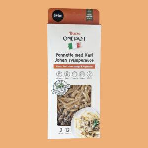 pennette med karl johan svampesauce pasta færdigretter fra bonzo