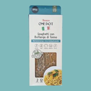 spaghetti bottarga di tonno med tun færdigretter fra bonzo