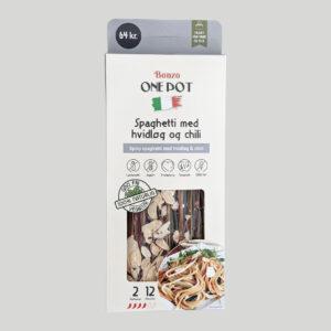spaghetti med hvidløg og chili færdigretter fra bonzo